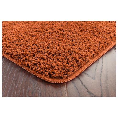 Tesco Rugs Shaggy Rug Terracotta 60X110Cm