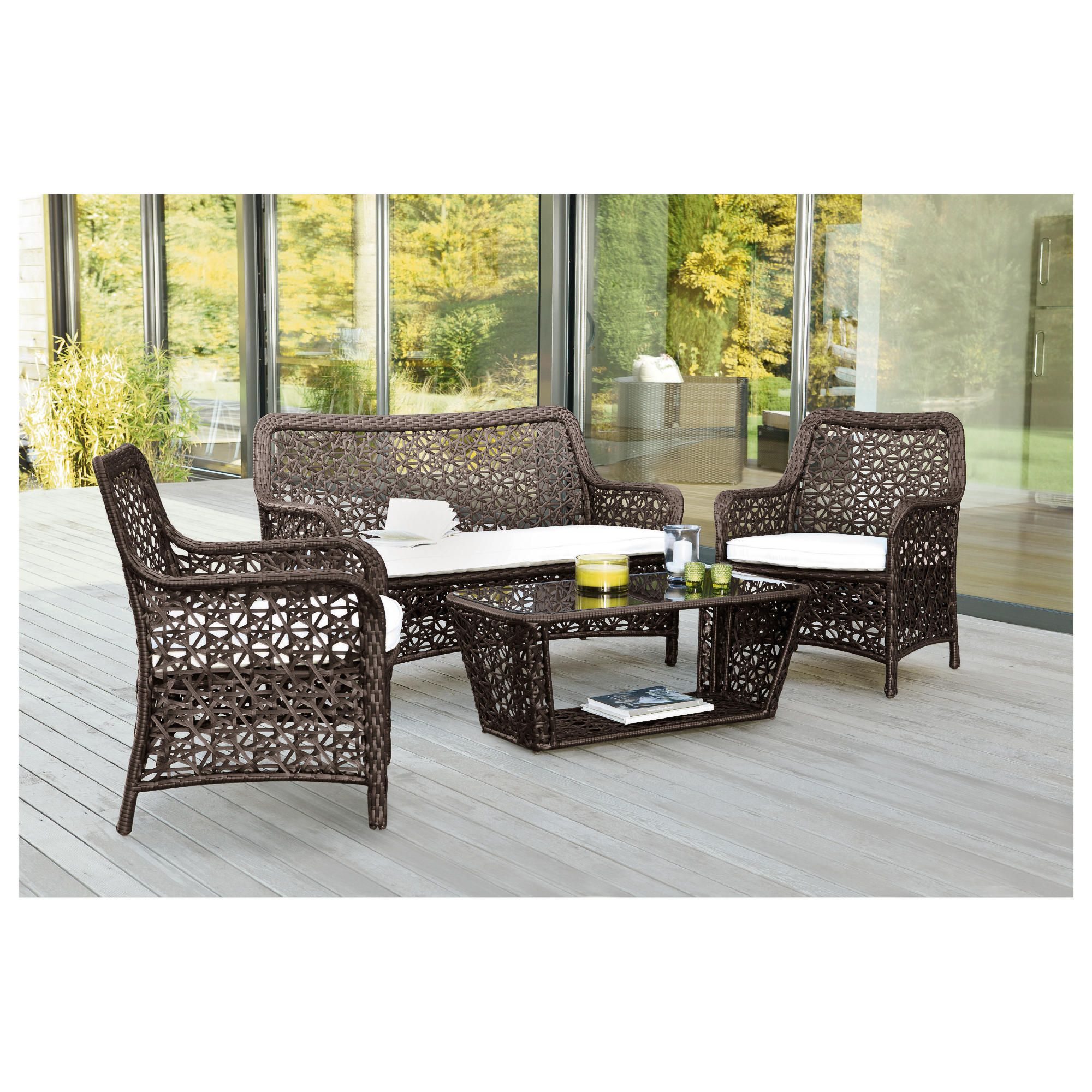 Biscayne Lounge Set 4 pcs at Tesco Direct