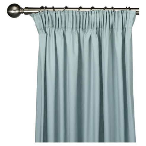Tesco Plain canvas Lined pencil pleat Curtains W112xL183cm (44x72