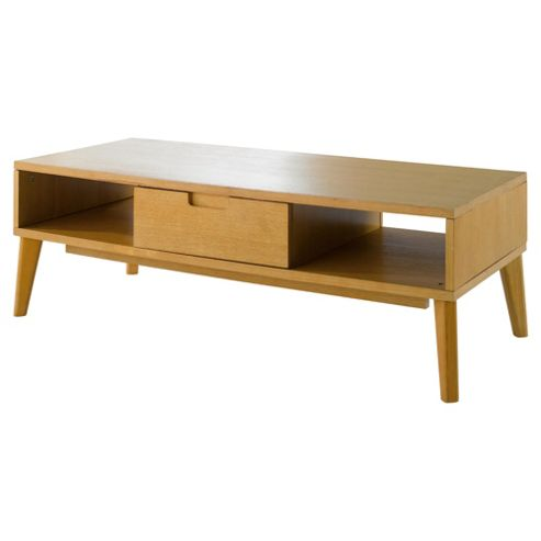 Retro Coffee Table, Light Oak