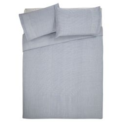Tesco Value Stripe Duvet Set Blue Double