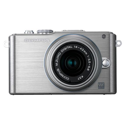 Olympus E-PL3 with Lens Kit Digital Camera, Silver, 12.3MP, 1x Optical Zoom
