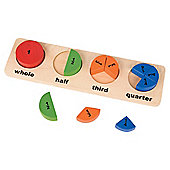 Shapes 'n' Fractions Wooden Toy