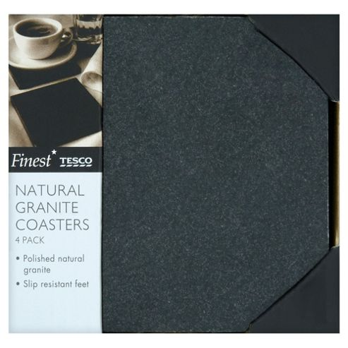 Tesco Finest Set of 4 Granite Coasters