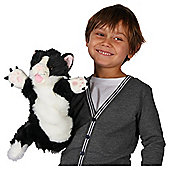 The Puppet Company Black & White Cat Puppet.