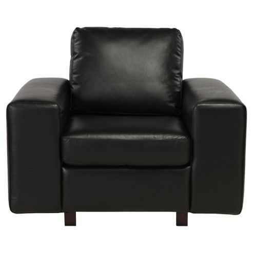 Marcello Leather Armchair, Black