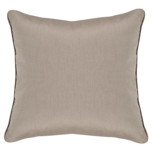 Tesco Faux Silk Cushion, Mocha
