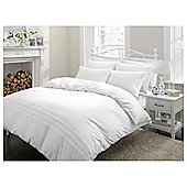 Finest Pima Cotton Piped Edge Superking Size Duvet Set