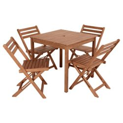 Stowe Wooden 4 Seater Set