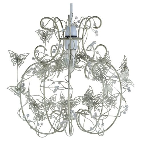 Tesco Lighting Cream Butterfly Cage Pendant