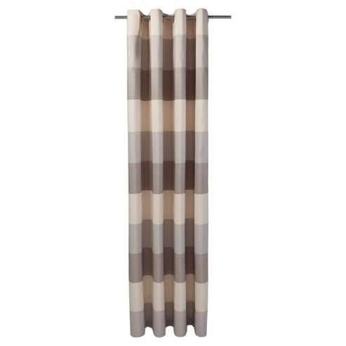 Tesco Stripe Taffetta lined eyelet Curtains W163xL137cm (64x54