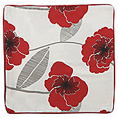 Tesco printed poppy cushion cover