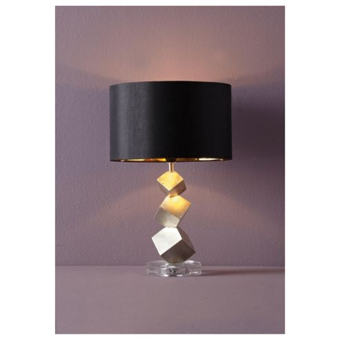 Tesco Lighting Alexis Table Lamp Gold/Black