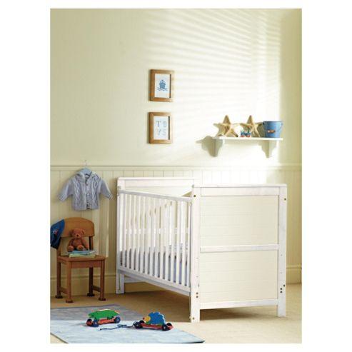 Saplings Elsie Cot Bed, White