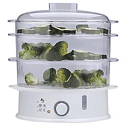 Tesco 3 Tier Steamer, ST11 - White