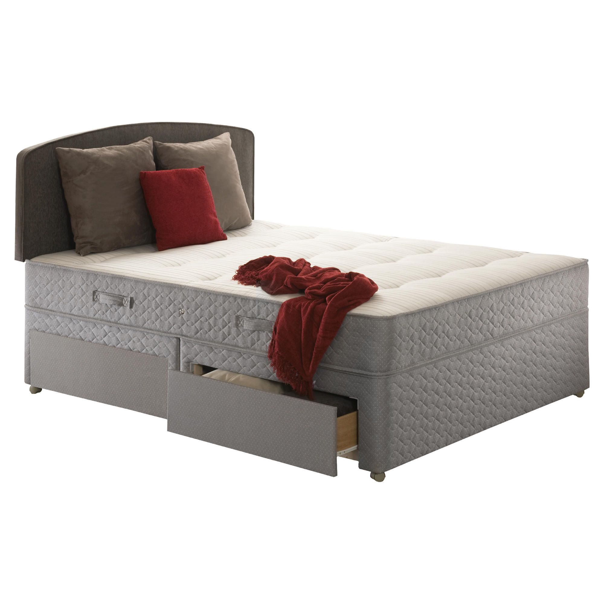 Sealy Posturepedic Ortho Backcare Plus King 4 Drawer Divan Bed at Tesco Direct