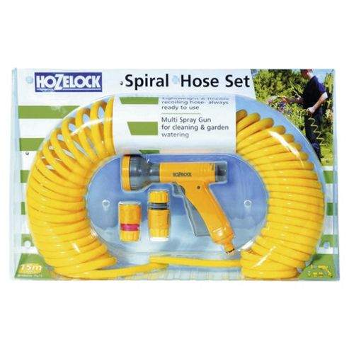 Hozelock Spiral Hose 15m plus Starter Set