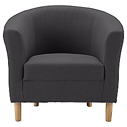Tub Fabric Accent Chair Charcoal