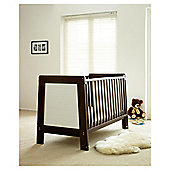 Saplings Pisa Cot Bed, Walnut & White