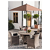Homes & Gardens Wooden 4 Seater Set & Parasol