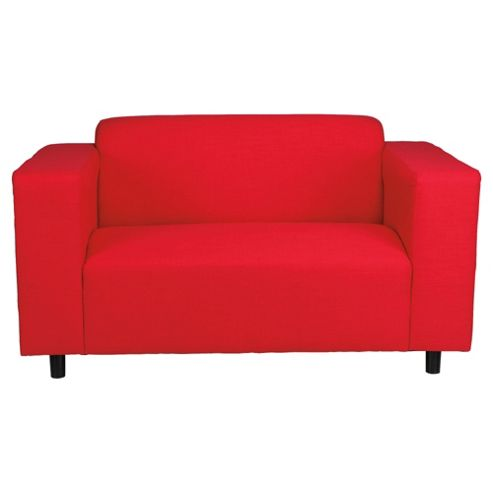 Stanza Fabric Small Sofa Red