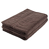 Tesco Bath Sheet Pair Dark Natural