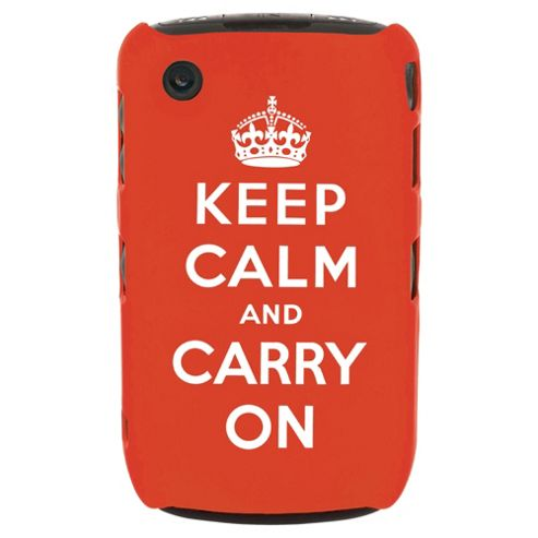 Orbyx Keep Calm & Carry on Case BlackBerry Curve 8520/9300 Red