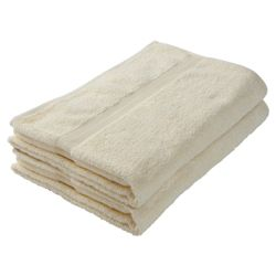 Tesco Bath Sheet Pair Cream