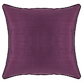 Tesco Faux Silk cushion, Plum