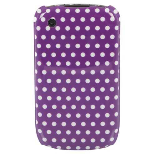 Orbyx Polka Dot Case BlackBerry Curve 8520/9300 Purple