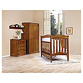 Bebecar 3 Piece Nursery Room Set, Dark Brown