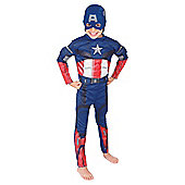 Rubies UK Deluxe Padded Chest Captain America- S