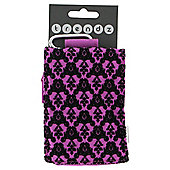 Trendz Universal Pouch Flock Hot Pink/Black