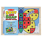 Melissa & Doug Sort & Snap Wooden Colour Match Game
