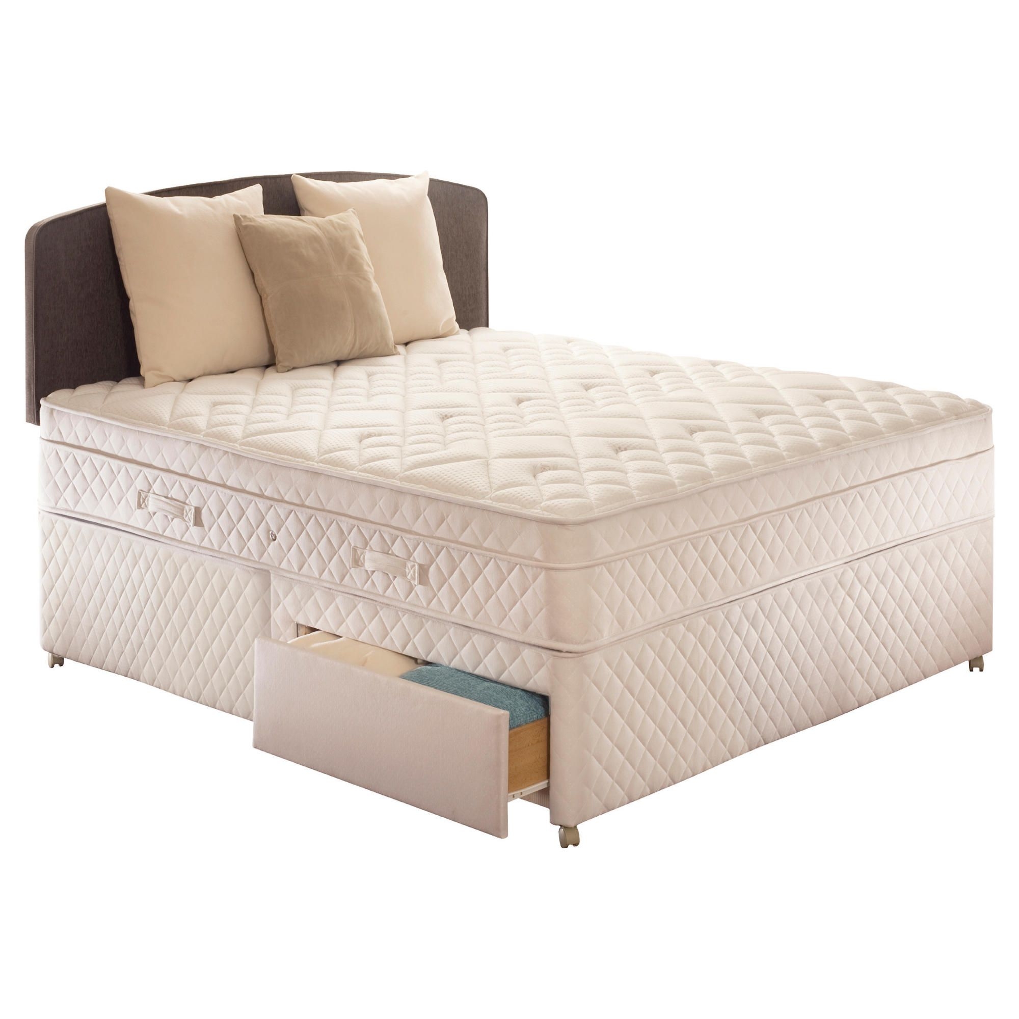Sealy Diamond Excellence Double 2 Drawer Divan Bed at Tesco Direct