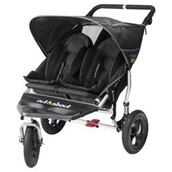 Out 'n' About V2 Nipper 360, 3 wheeler Double Pushchair, Black