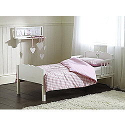 Saplings Heart Junior Bed, White