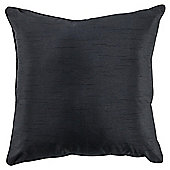 Tesco Set Of 2 Faux Silk Cushions, Black