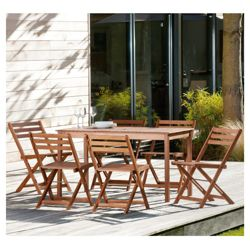 Stowe Wooden 6 Seater Set