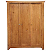 Suffolk 3 Door Wardrobe, Solid Pine