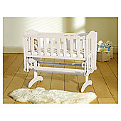 Saplings Glider Crib & Foam Mattress, White
