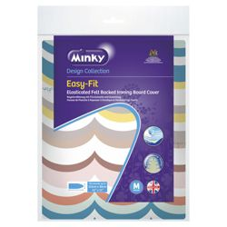 Minky easy fit ironing board cover 115 x 38cm (colours and styles may vary)
