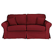 Louisa Medium Sofa with Removable Jaquard Cover, Wine
