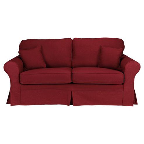 Louisa Medium 3 Seater Sofa with Removable Jaquard Cover, Wine