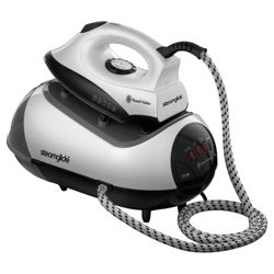 Russell Hobbs 17880 Pressurised Steam Generator with Non-stick Plate - White