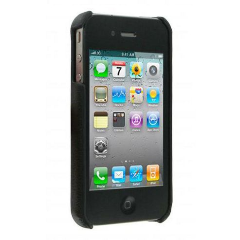 Pro-Tec Shield Leather Effect Case for iPhone 4/4S - Black