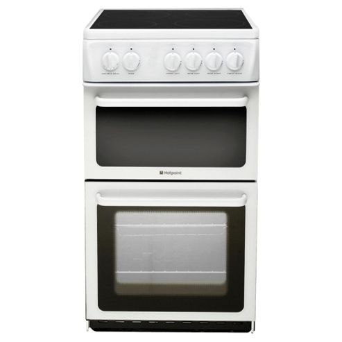 Hotpoint HAE51P White Twin Cavity Cooker