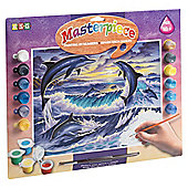 KSG Crafts Senior Painting By Numbers Dolphin Sunrise