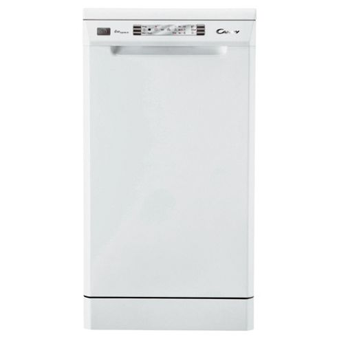 Candy CDP4610 Slimline Dishwasher, A Energy Rating. White