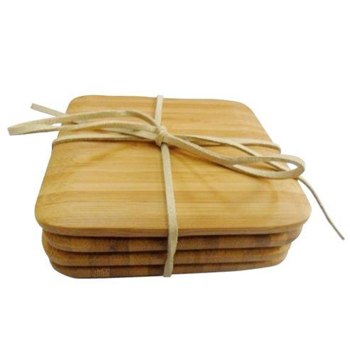 Tesco Vertical Bamboo Set of 4 Coasters